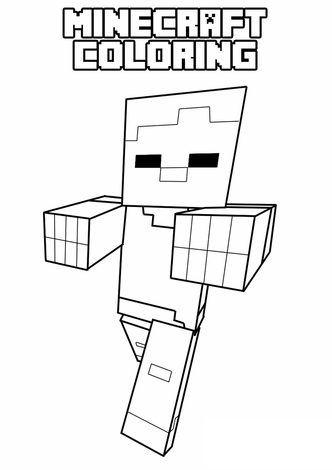 Free Printable Minecraft Coloring Pages 01
