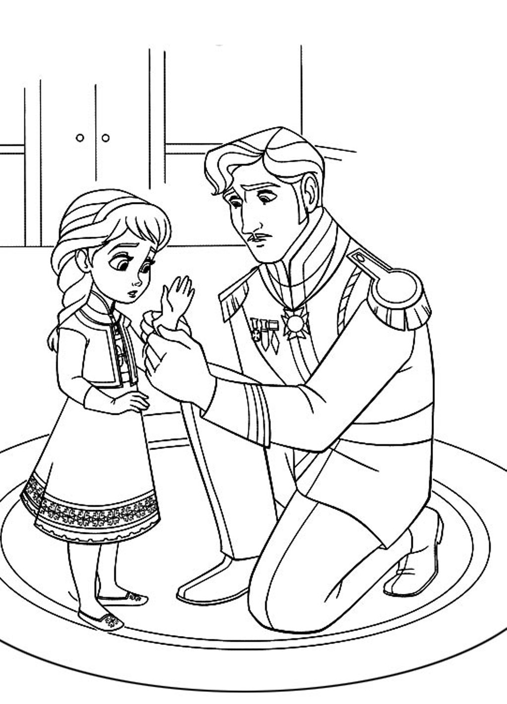 Frozen coloring page only coloring pages for Frozen coloring pages free