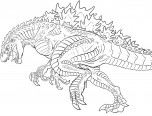 godzilla coloring pages