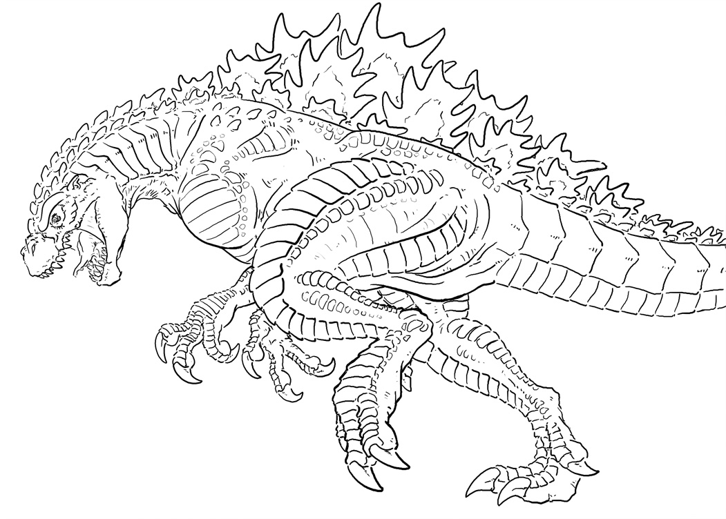 godzilla coloring pages Only
