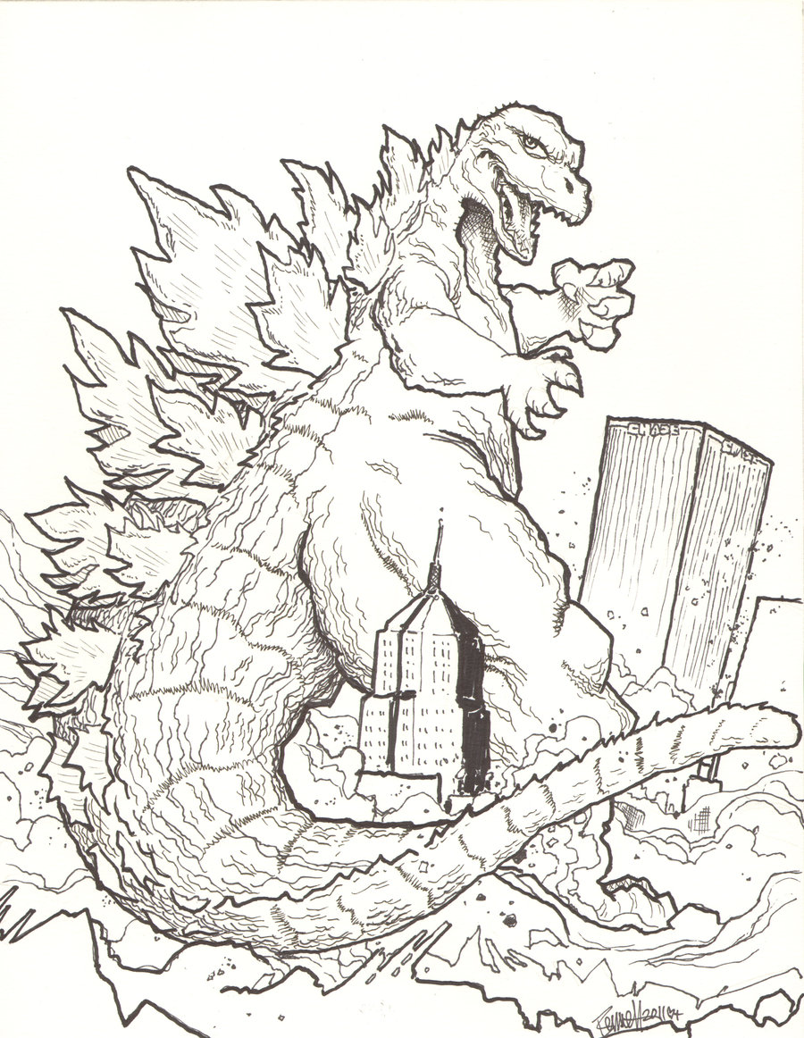 godzilla coloring pages 03