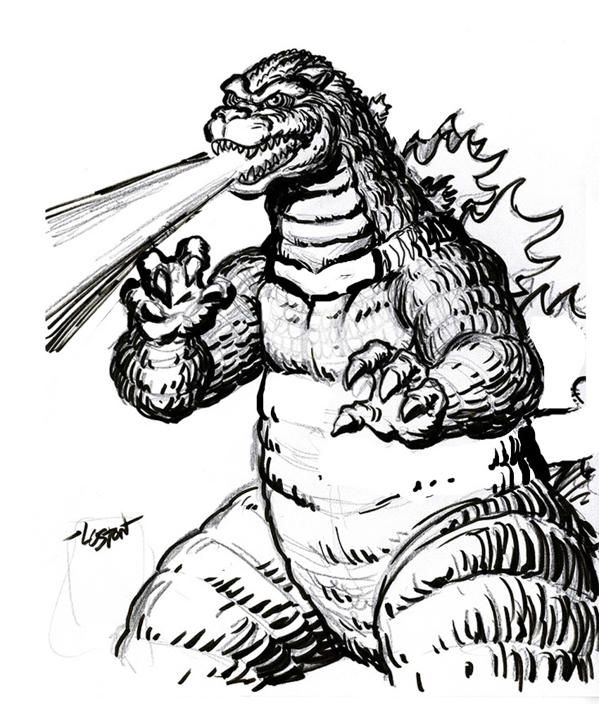 godzilla coloring pages online - photo#27