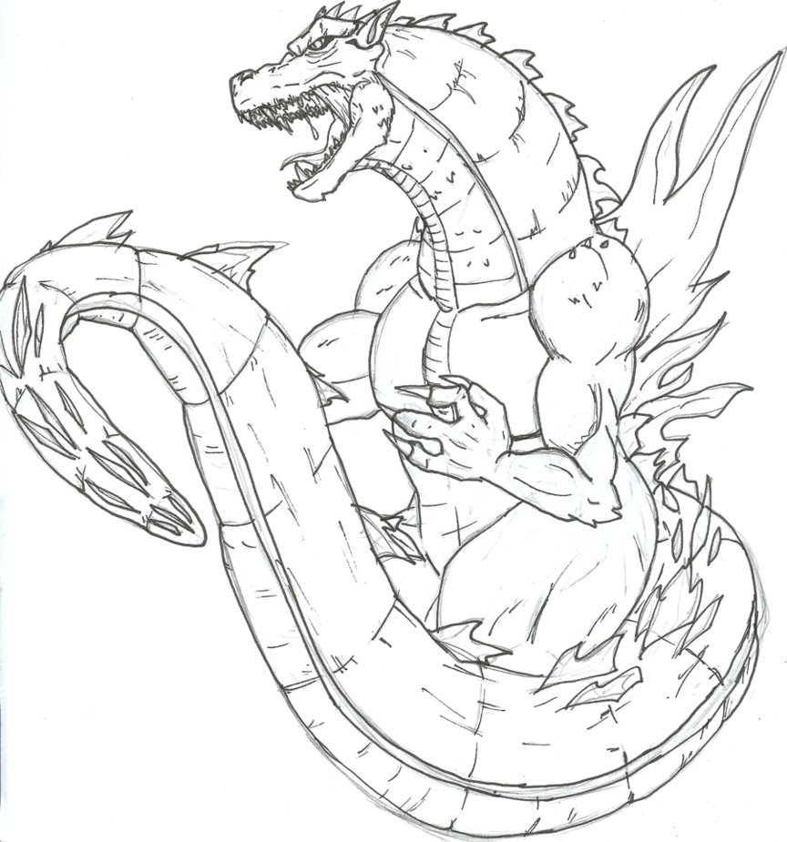 godzilla coloring pages - photo#23