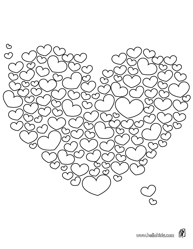 hearts coloring pages 01