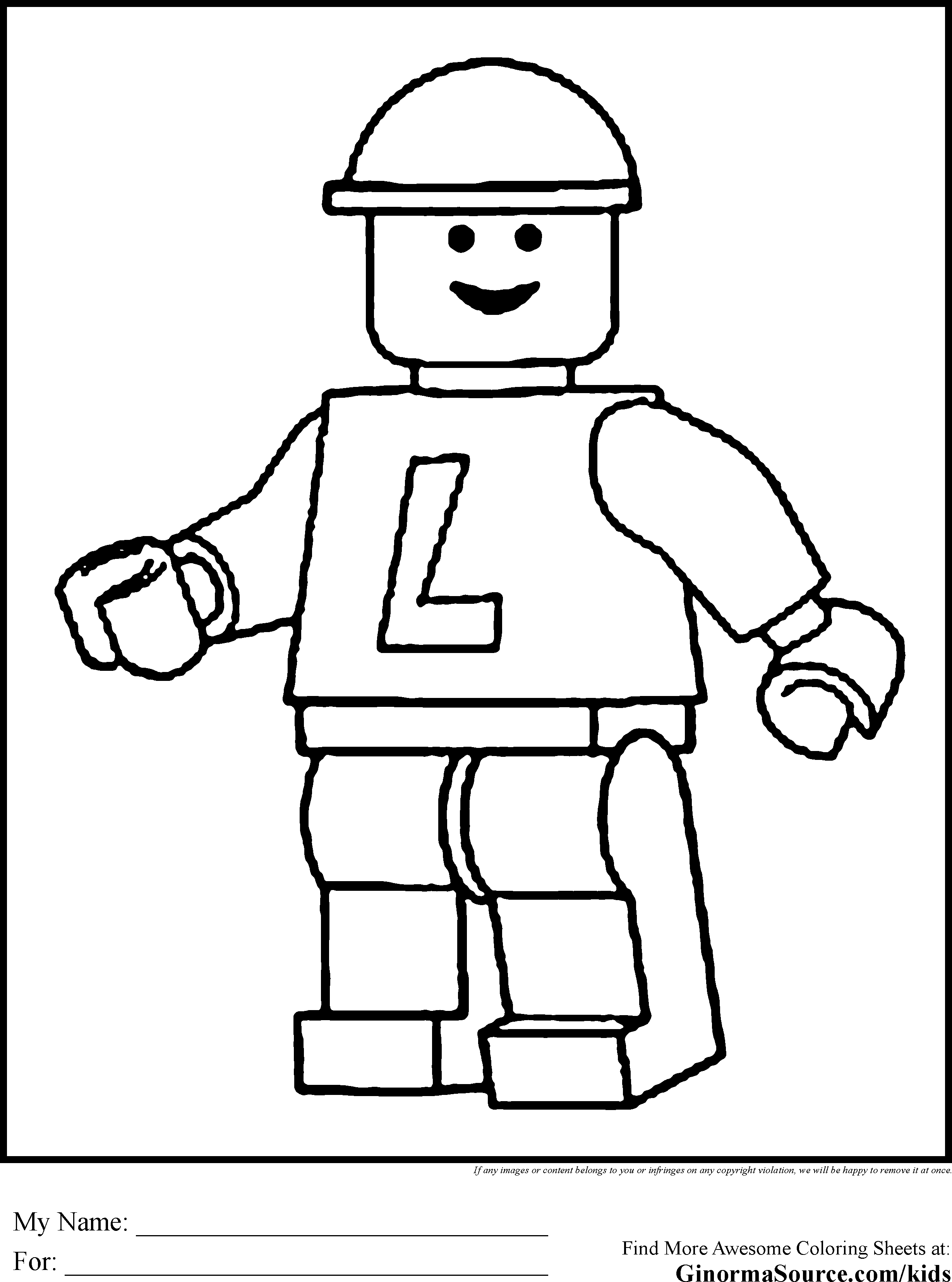Printable Lego Colouring Pictures : Lego coloring sheets only pages