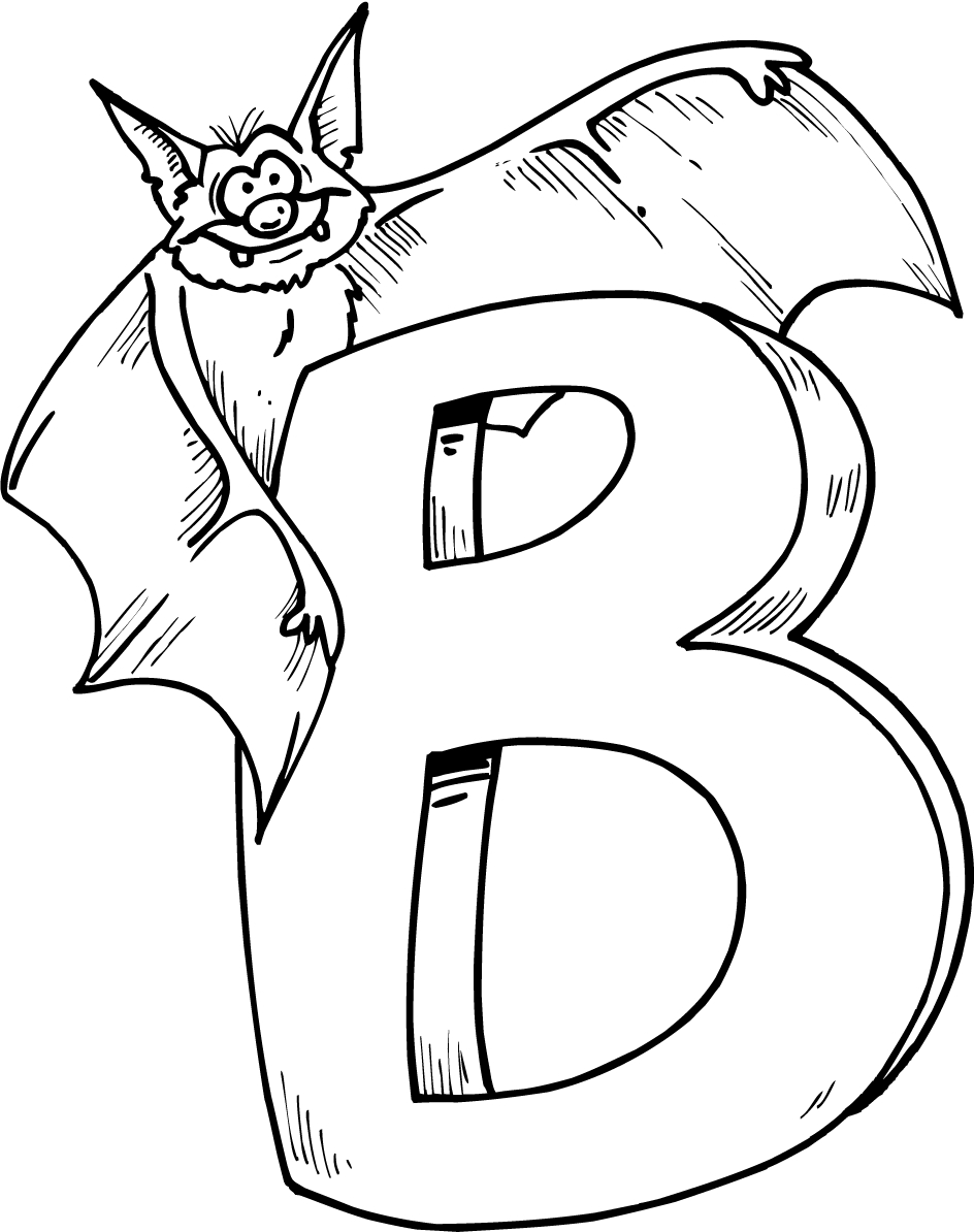 letter b coloring pages 01