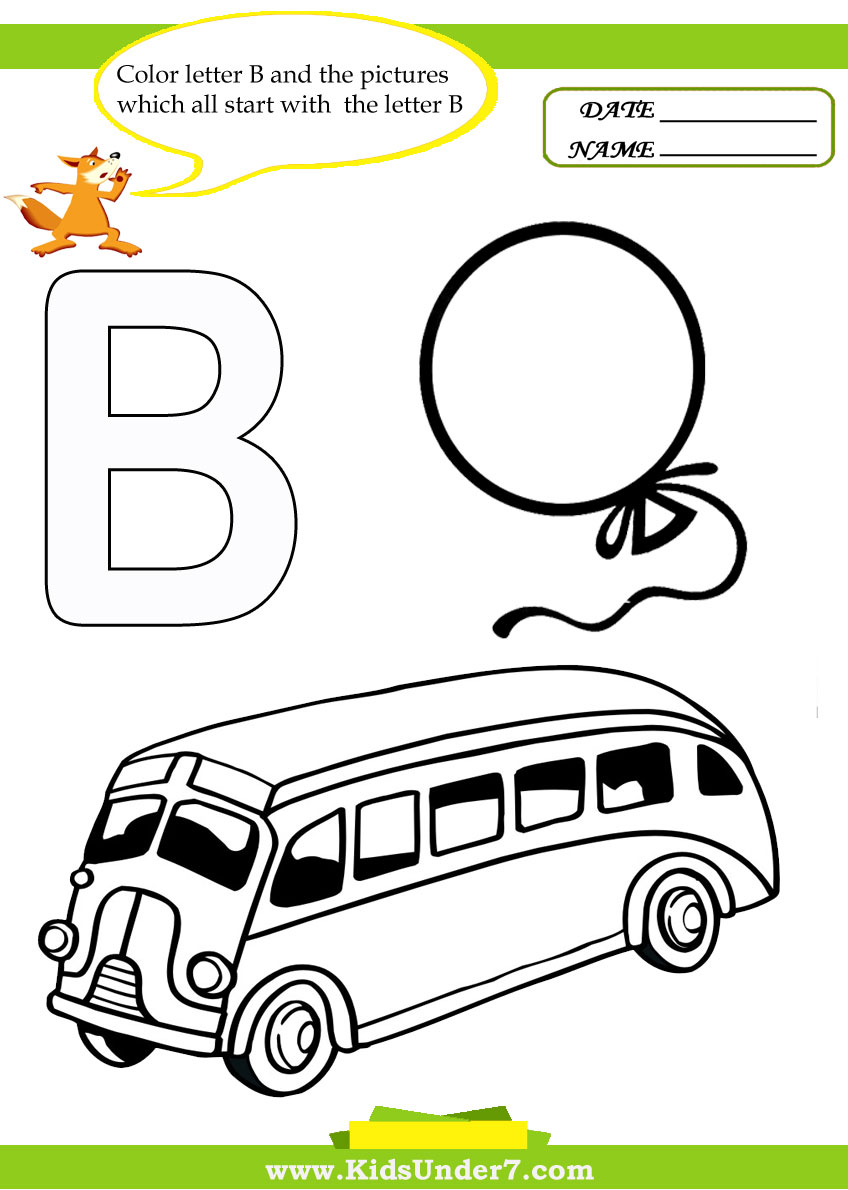 Free Coloring Pages Of Capital B