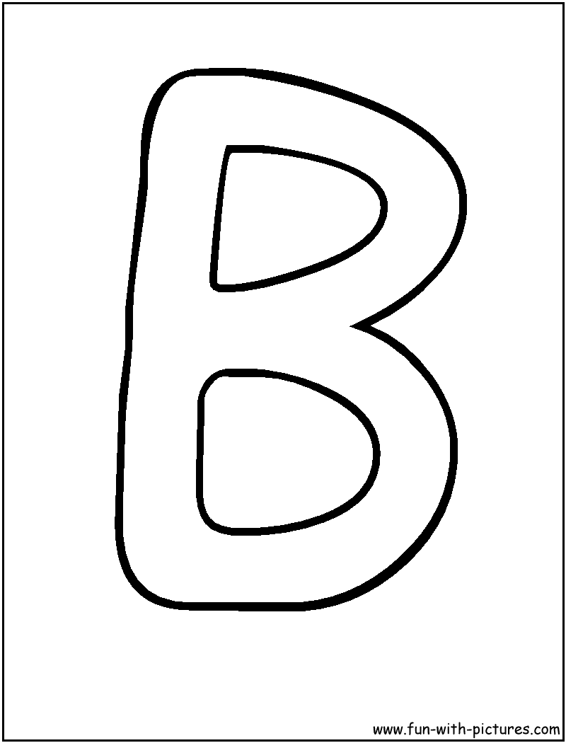 letter b coloring pages Only
