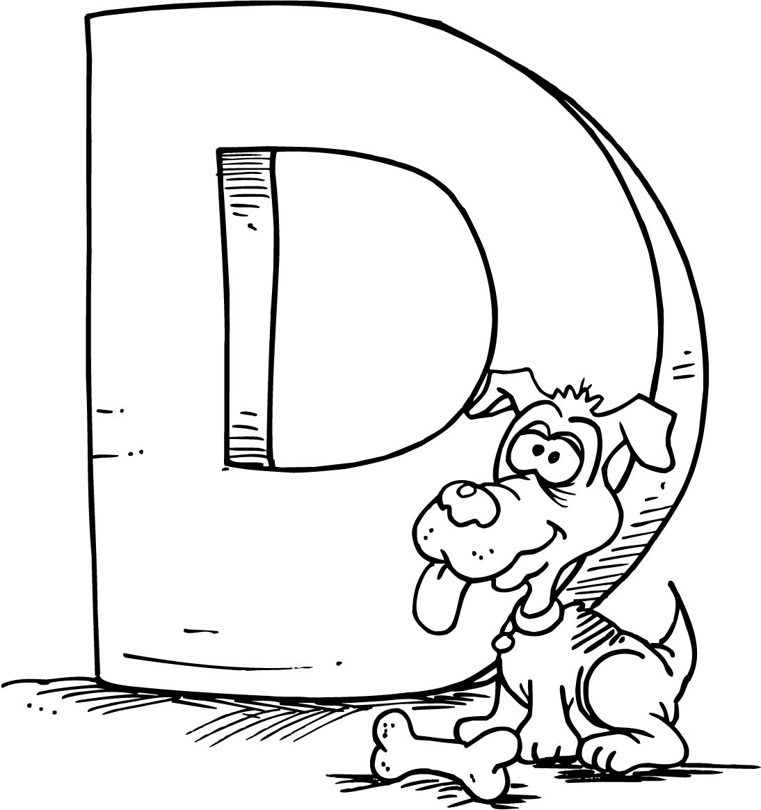 letter d coloring pages