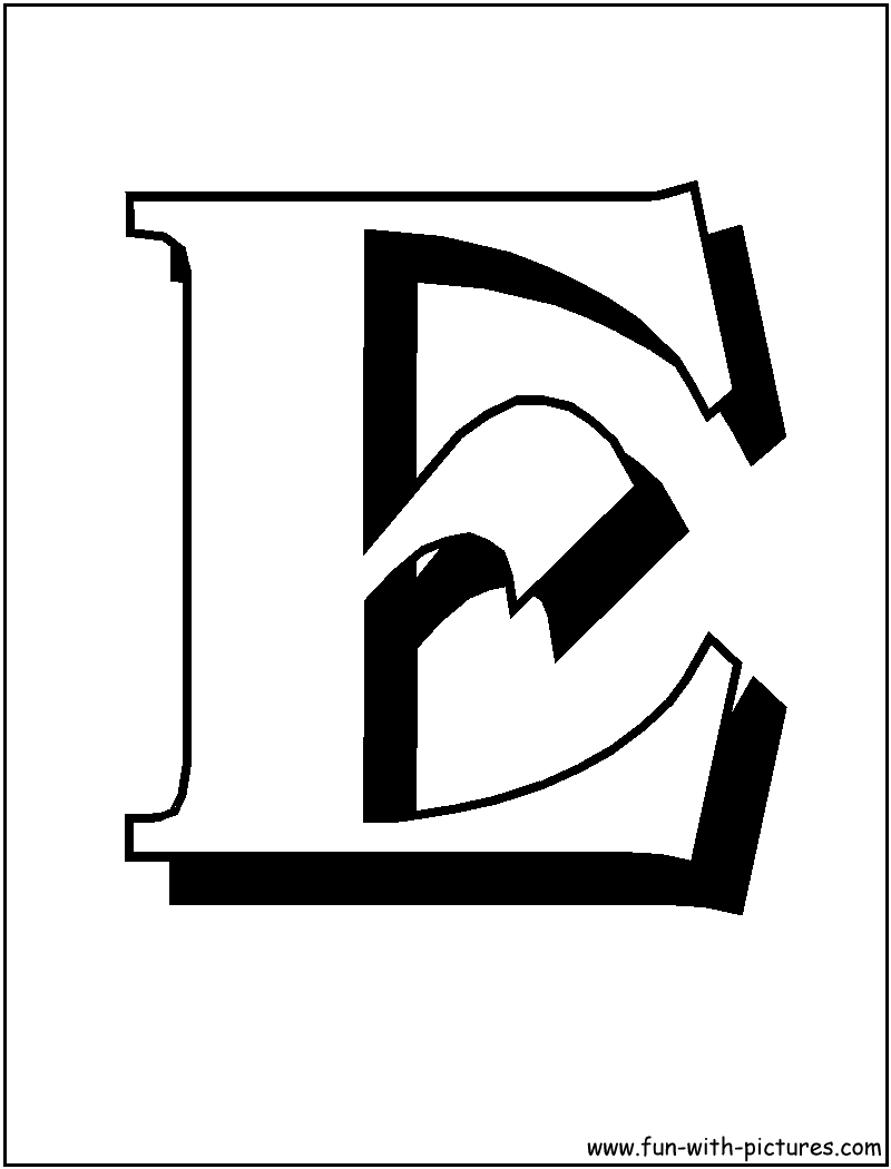letter e coloring pages | Only Coloring Pages