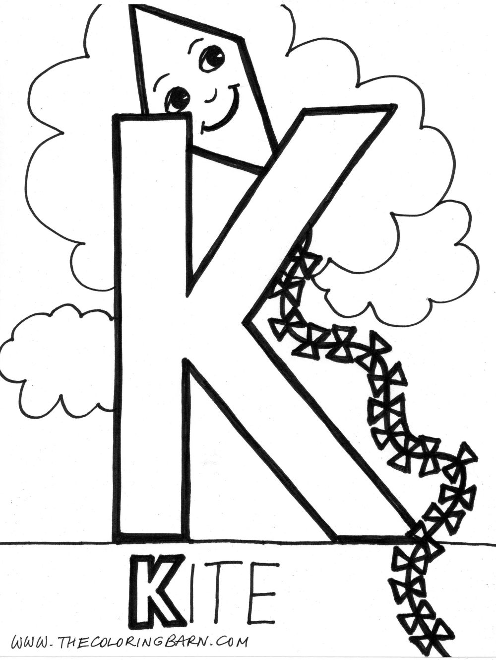 the letter k coloring pages - photo#12