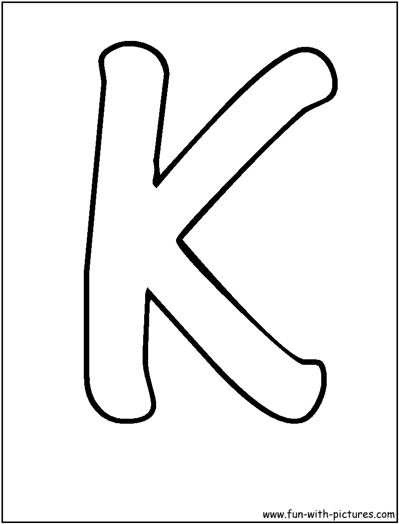 the letter k coloring pages - photo#14