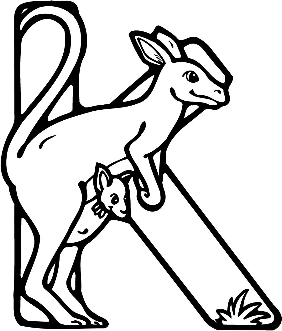 the letter k coloring pages - photo#29