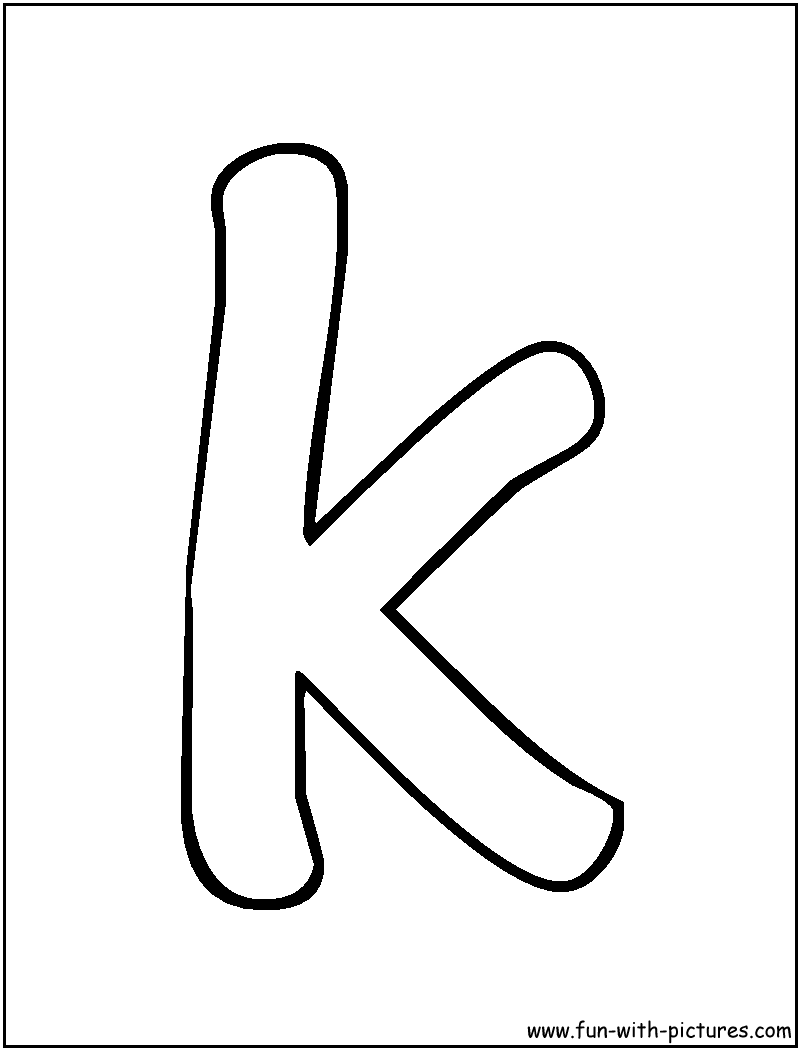 Free Coloring Pages Of Letter K The Latter S Color