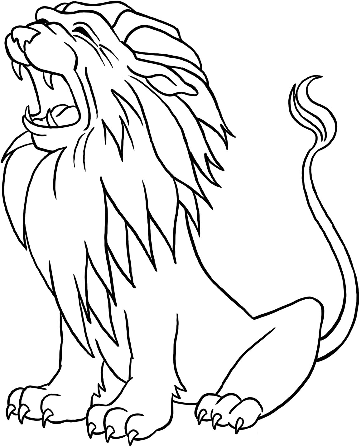 free coloring pages of lions - photo#3