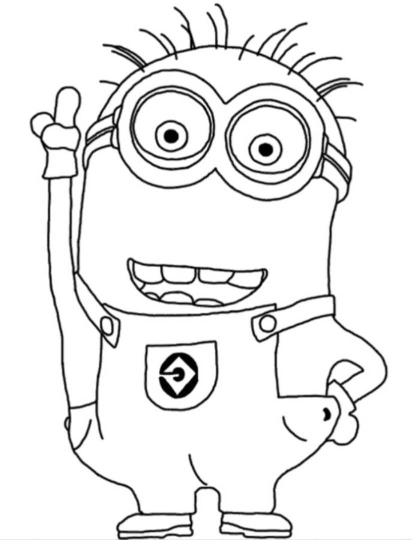 Gargantuan image with printable minion coloring page