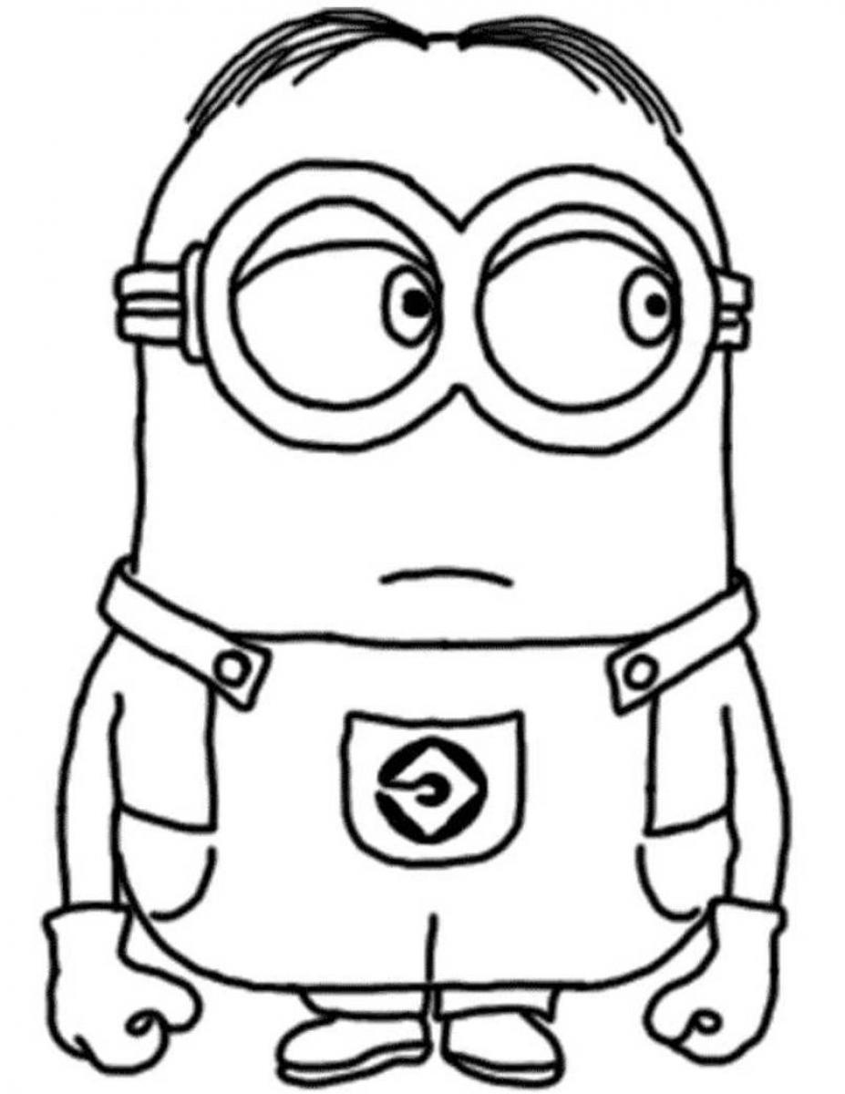 Free Coloring Pages Of Minion Vector Page