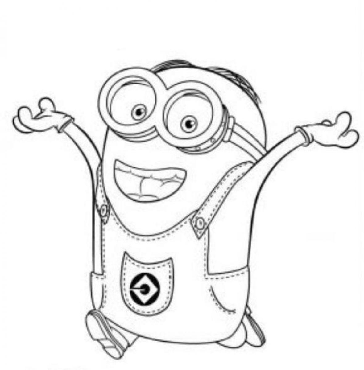 Free Coloring Pages Of Minion Minions Coloring Page