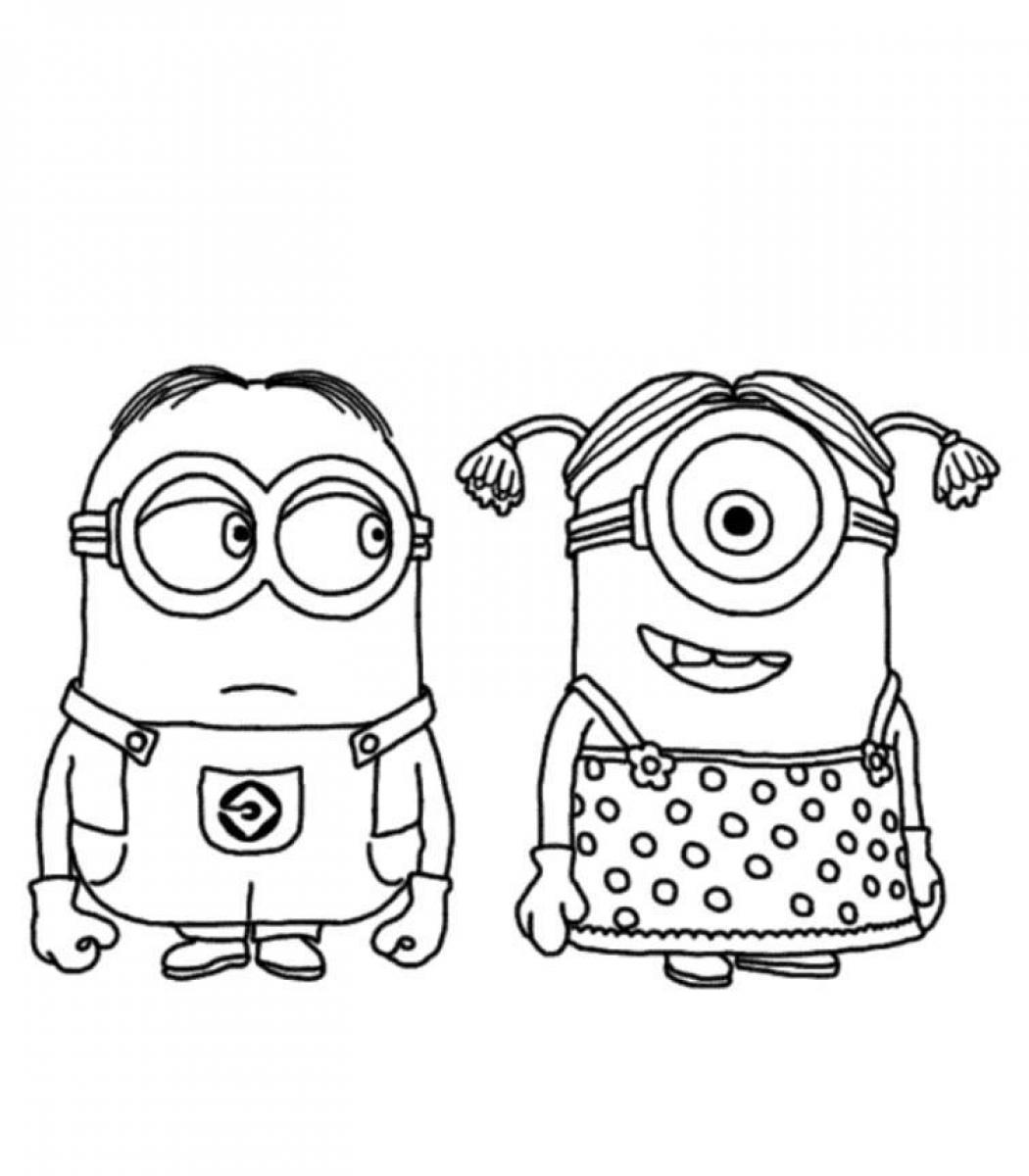 coloring pages minions angen - photo#42