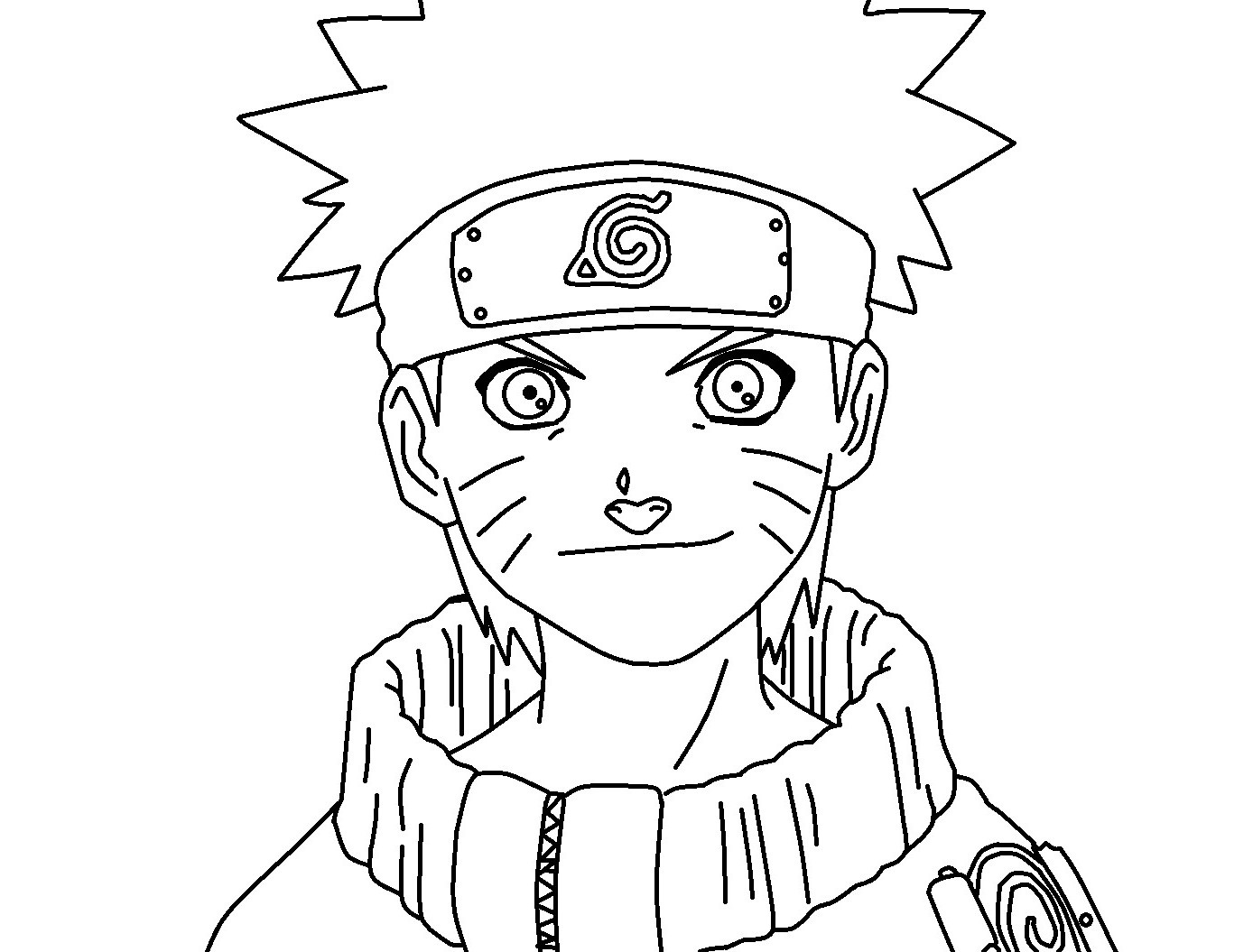 naruto coloring page with shadow