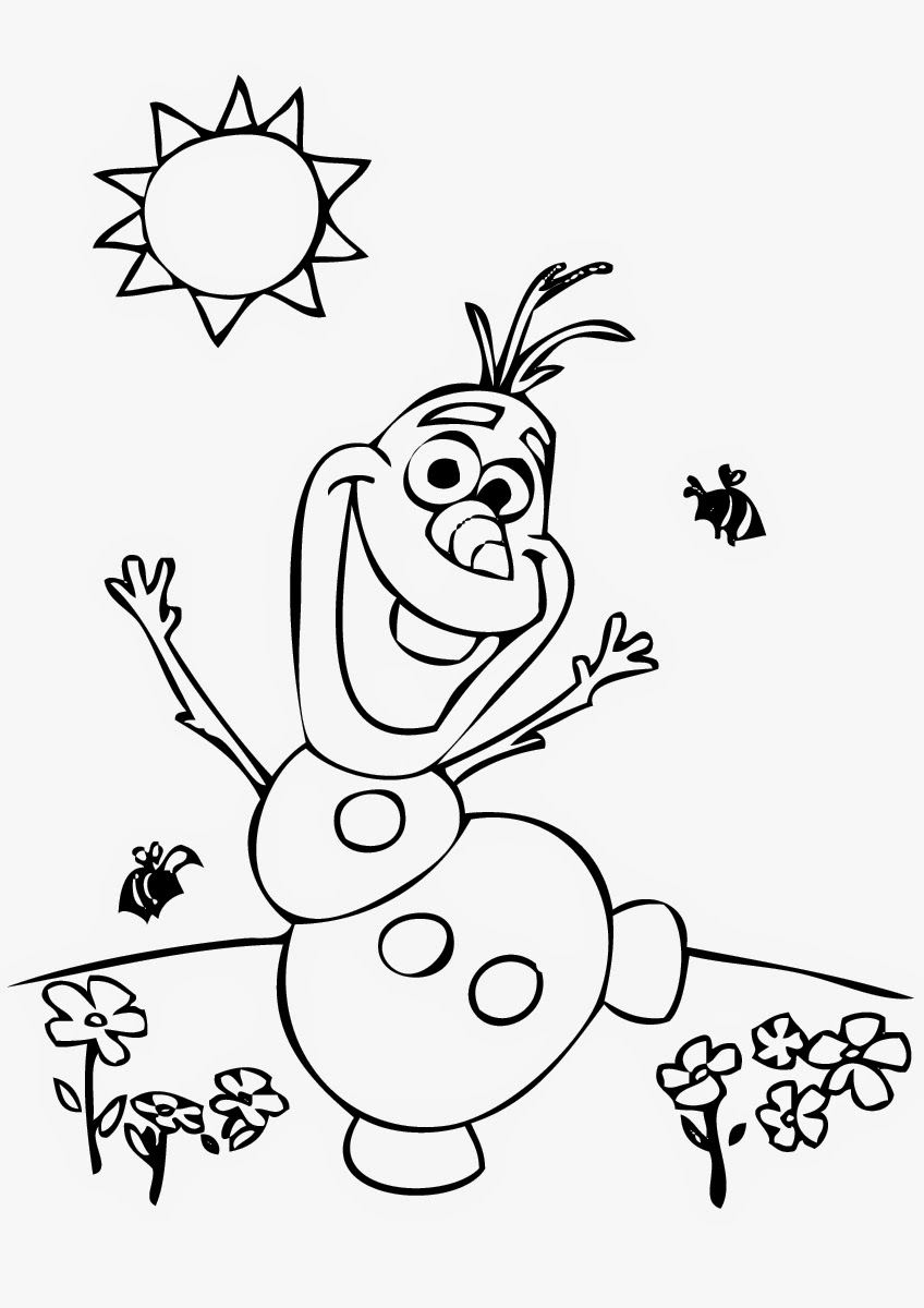 Free Coloring Pages Of Olaf N Olaf Printable Coloring Pages