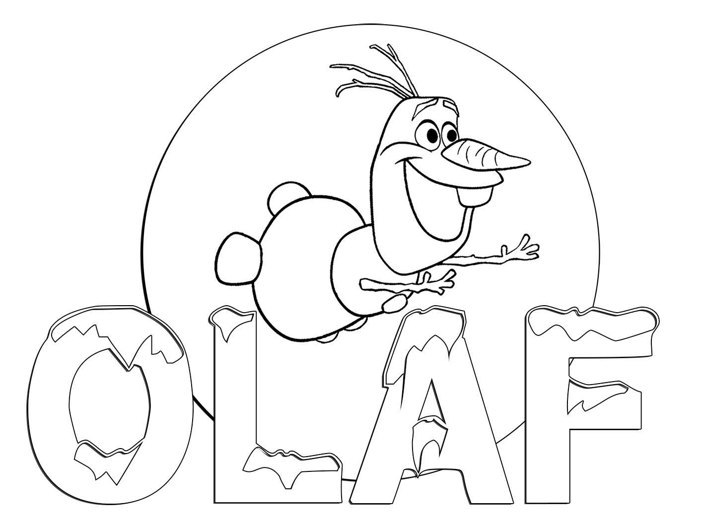 Free Coloring Pages Of Olaf Olaf Coloring Page