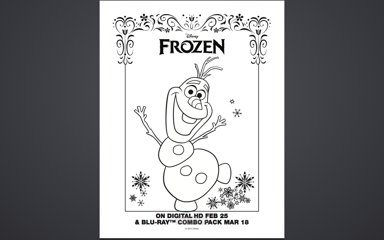 olaf body parts coloring pages - photo#20