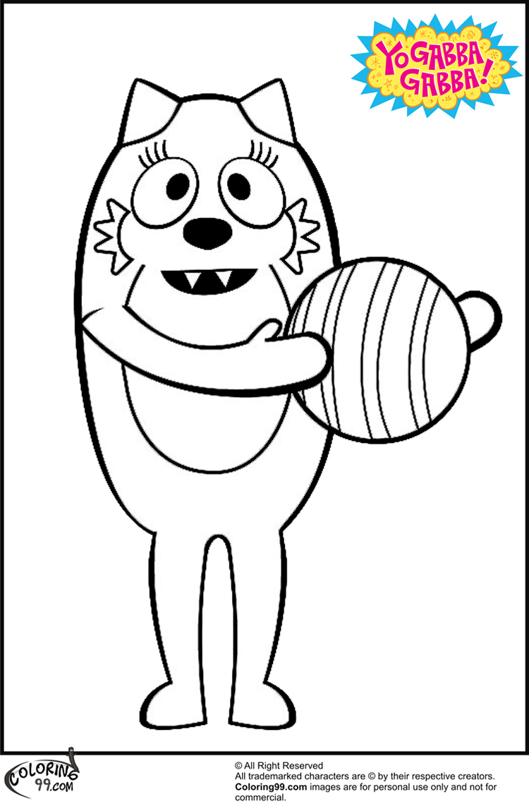 Plex coloring pages only coloring pages for Yo gabba gabba coloring pages