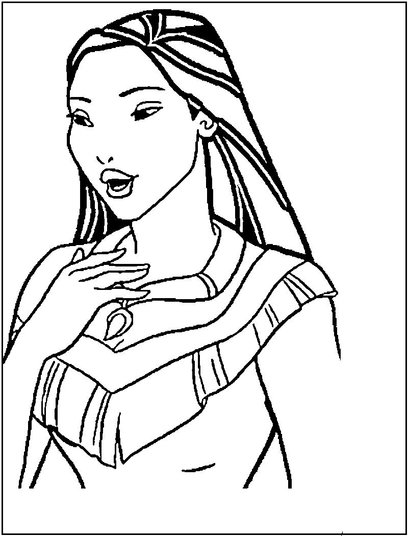 pocahontas coloring pages | Only Coloring Pages - photo#11