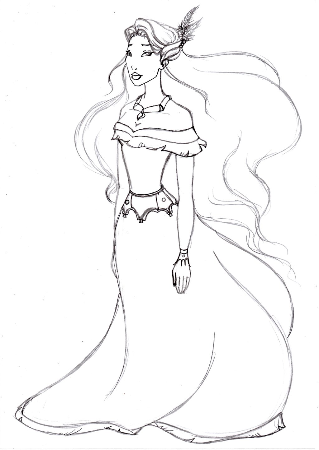 coloring pages pocahontas - photo#18