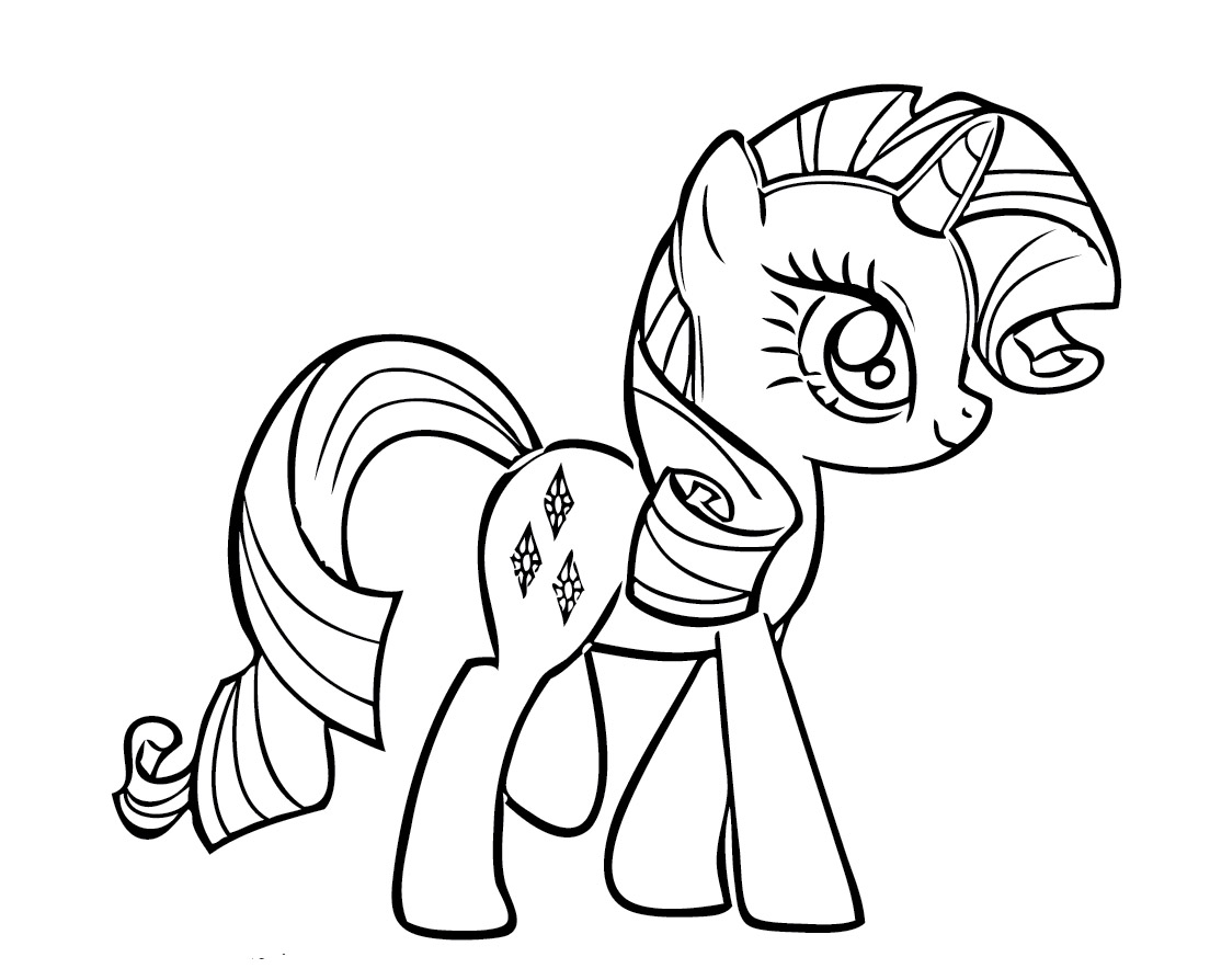 Young my little pony coloring pages - Little Pony Coloring Pages Young Rarity My Little Pony Coloring Pages