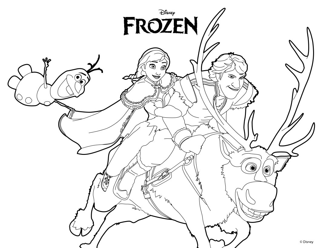 Printable frozen coloring pages only coloring pages for Frozen coloring pages free