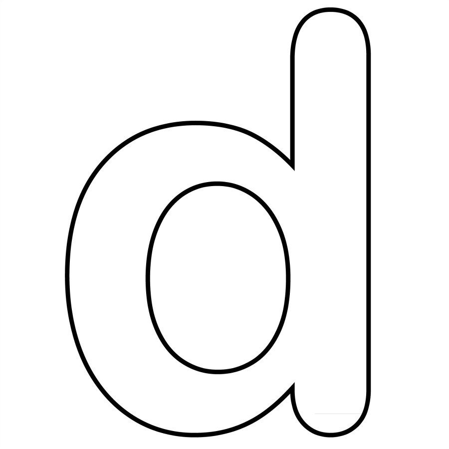 free coloring pages of letter d