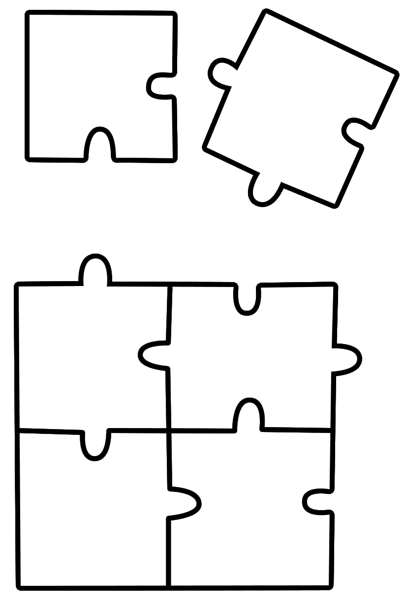 Puzzle Coloring Sheet 01