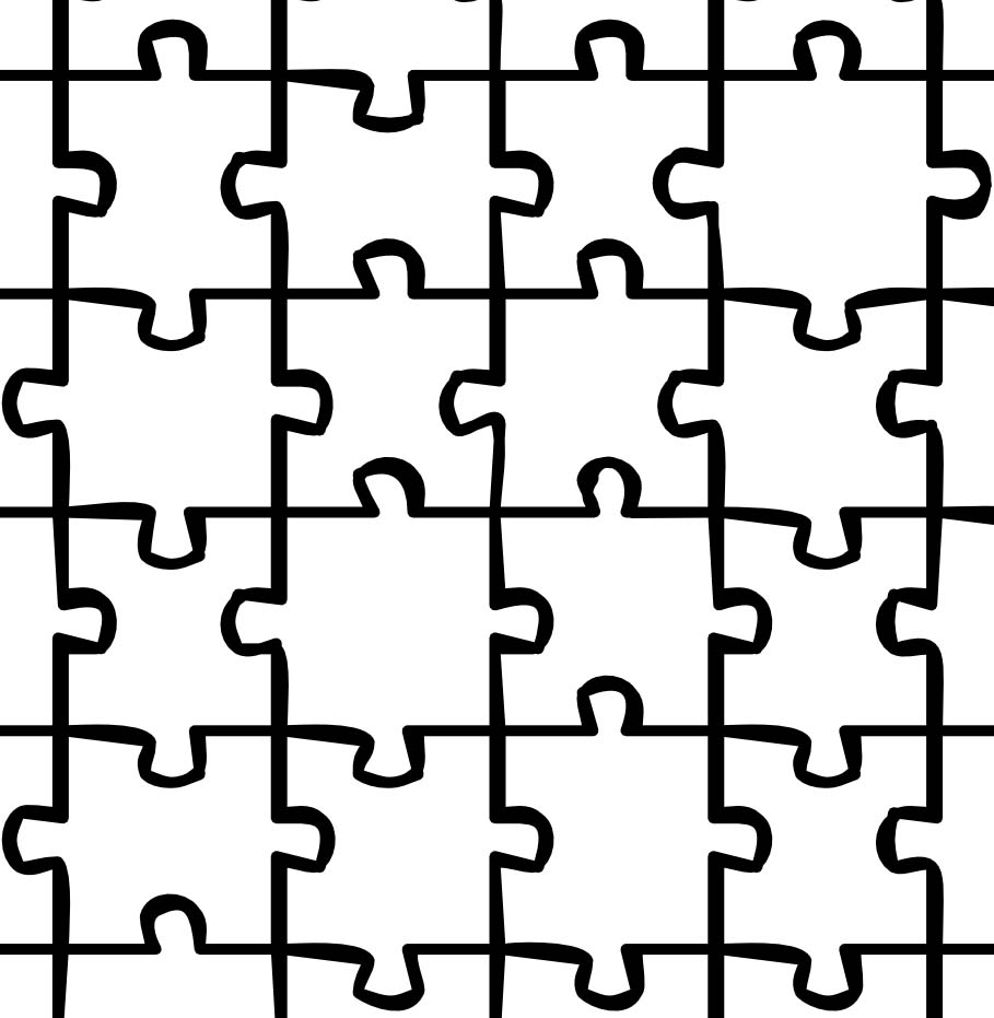 puzzle coloring sheet Only Coloring