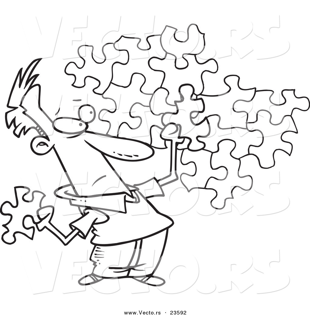 Puzzle Coloring Sheet Only Coloring Pages
