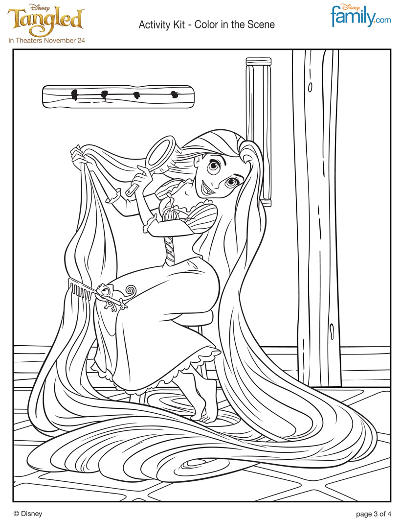 tangled coloring pages rapunzel coloring - photo #20
