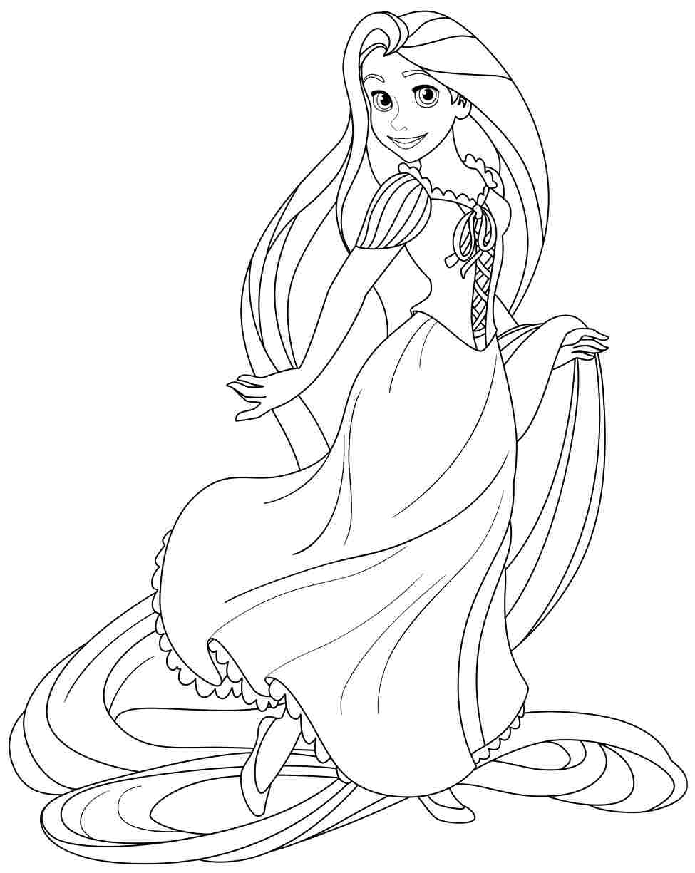 Free Coloring Pages Of Rapunzel Rapunzel Tangled Coloring Pages