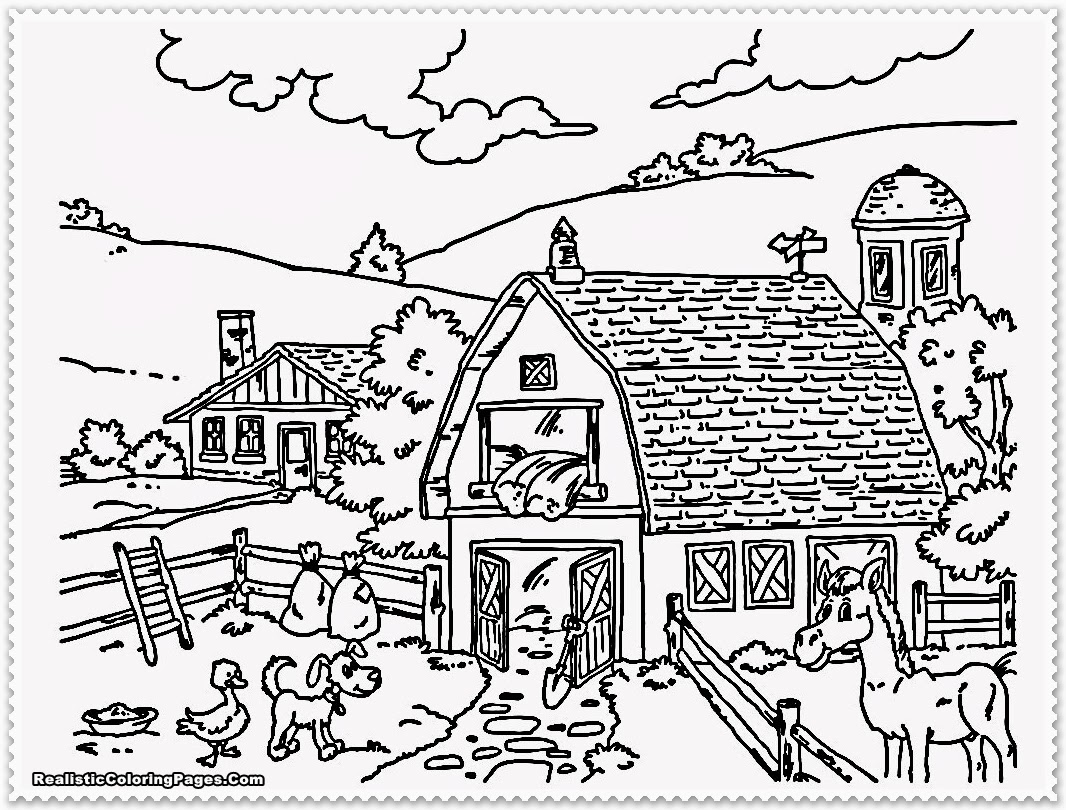 Realistic farm animal coloring pages only coloring pages for Farm animal coloring pages