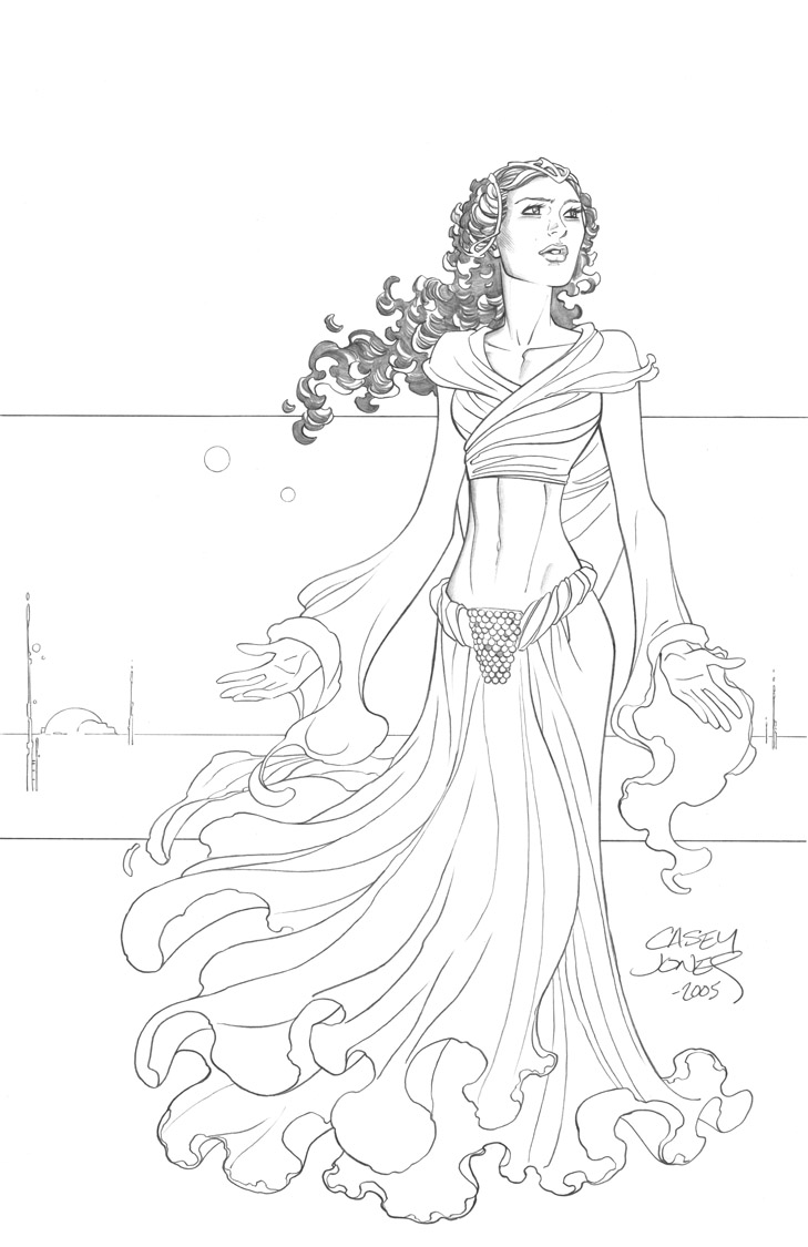 Star Wars Coloring Pages Padme 01