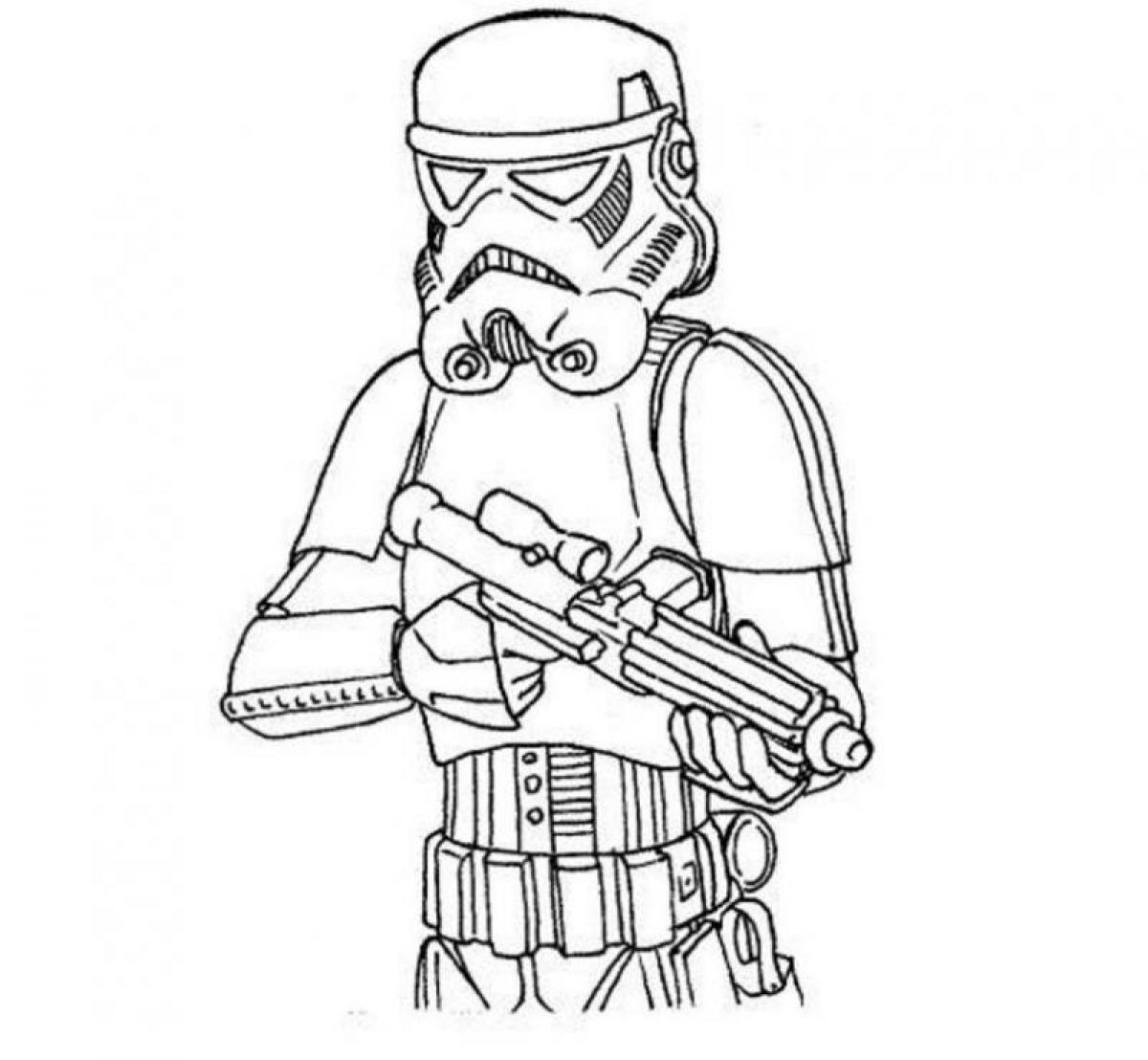 Star Wars Stormtrooper Coloring Page 01