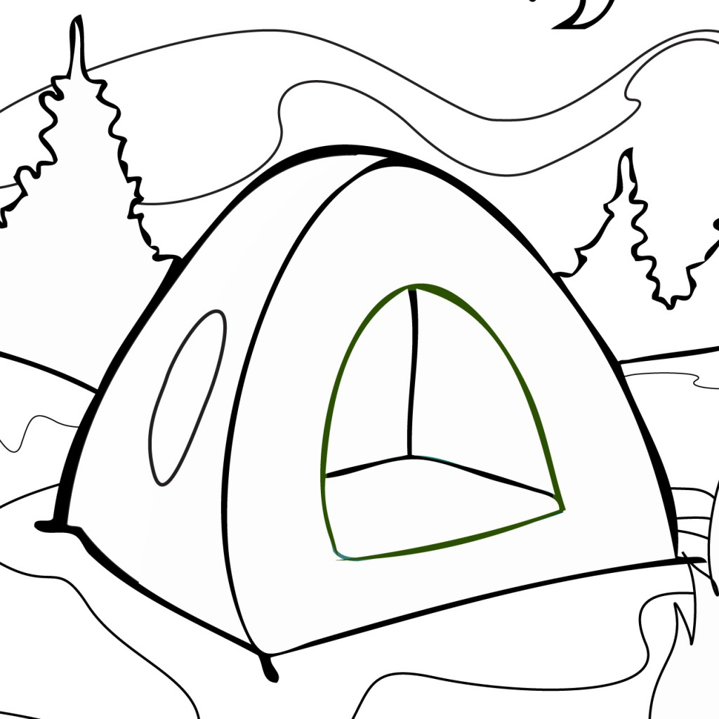 Tent coloring page free printable online tent coloring for Coloring pages to color online for free
