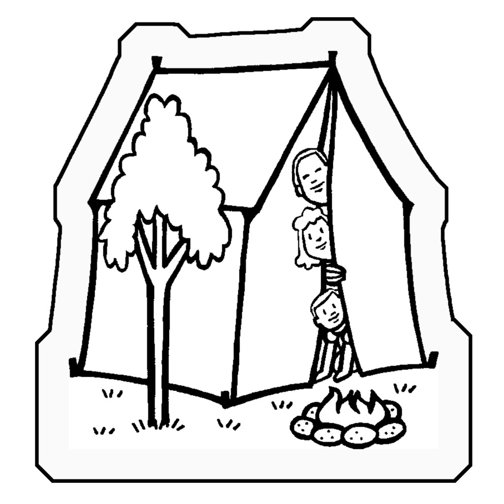tent coloring page | Only Coloring Pages