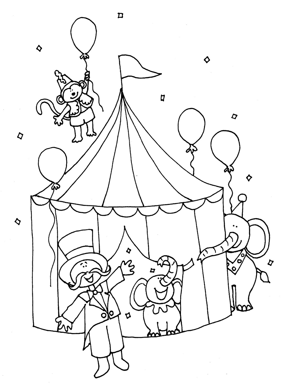 Tent Coloring Sheet Sketch Coloring Page