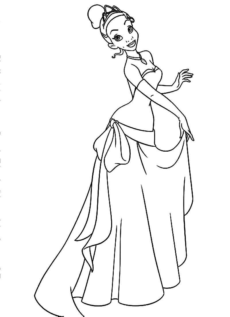 tiana coloring pages Only Coloring Pages