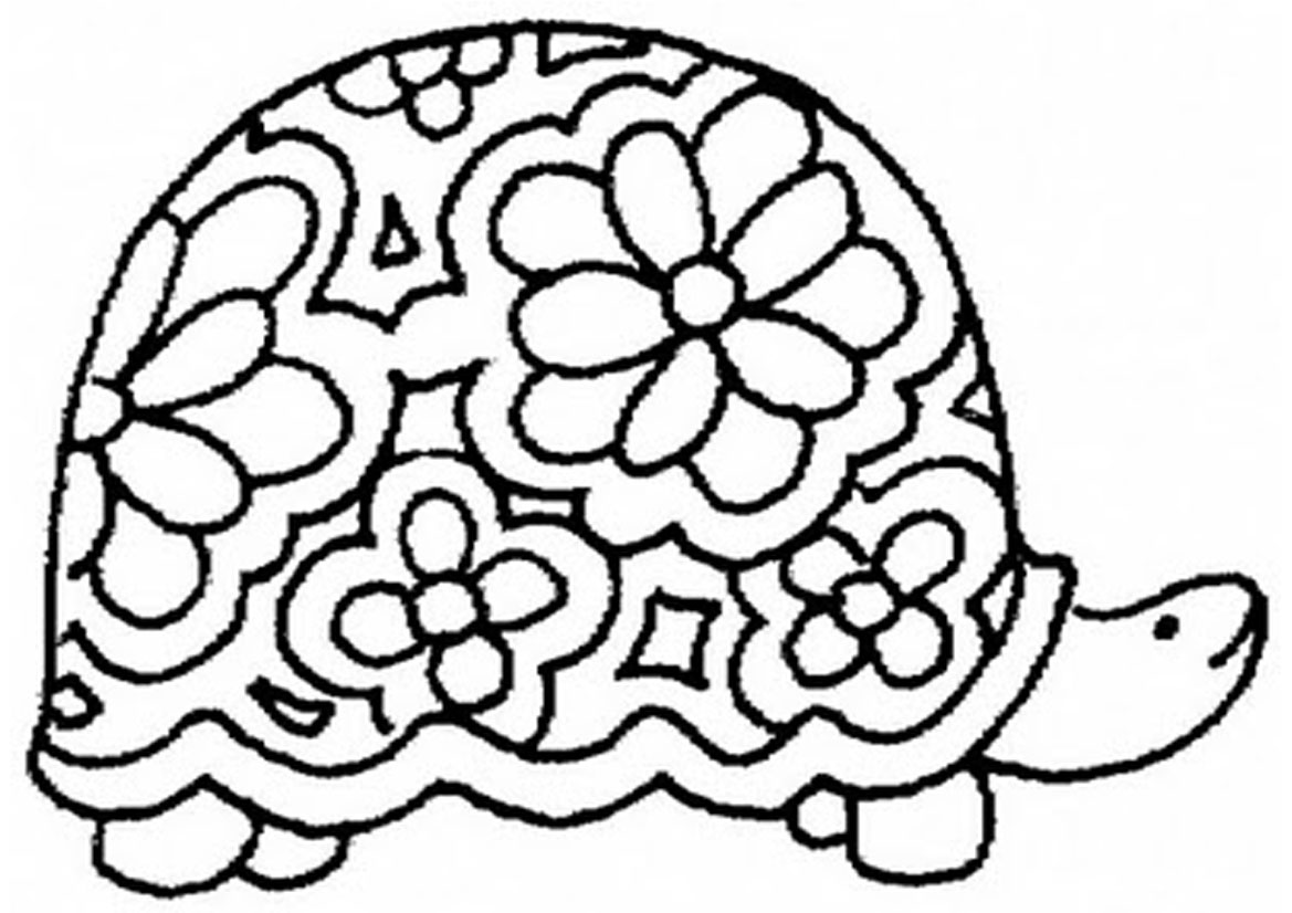 free coloring turtle pages - photo#4