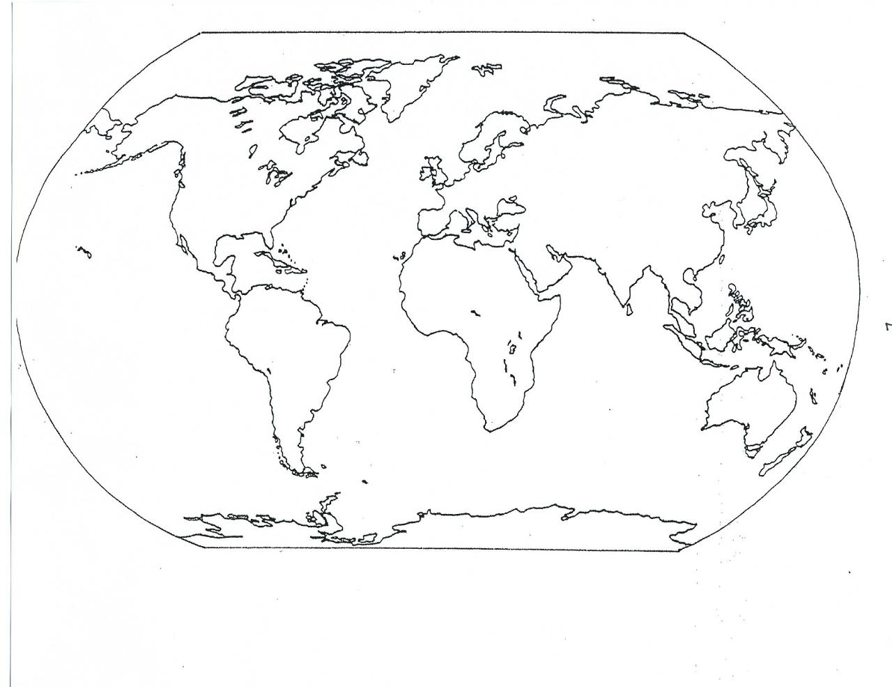 Maps coloring pages world map