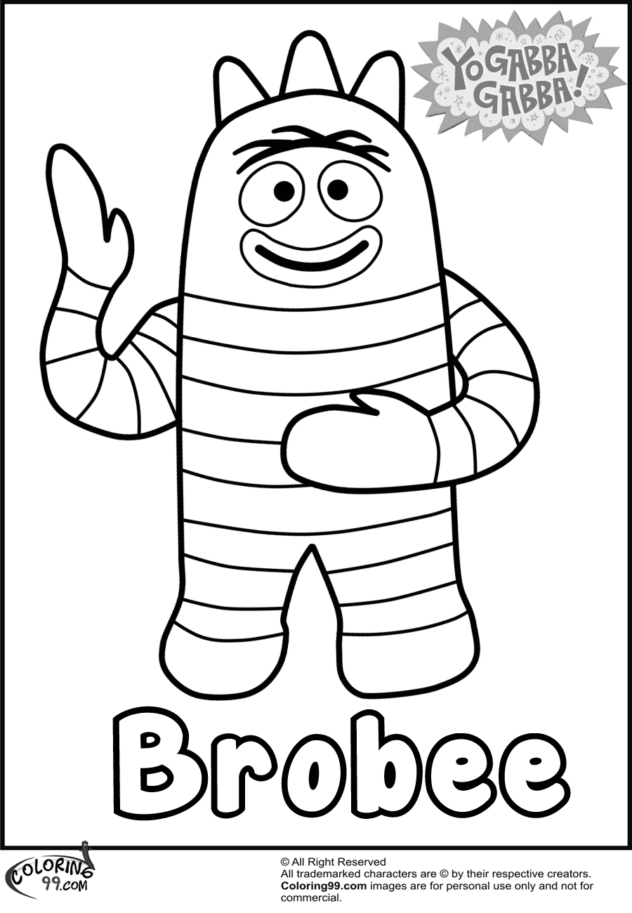 Yo Gabba Gabba Coloring Pages 01