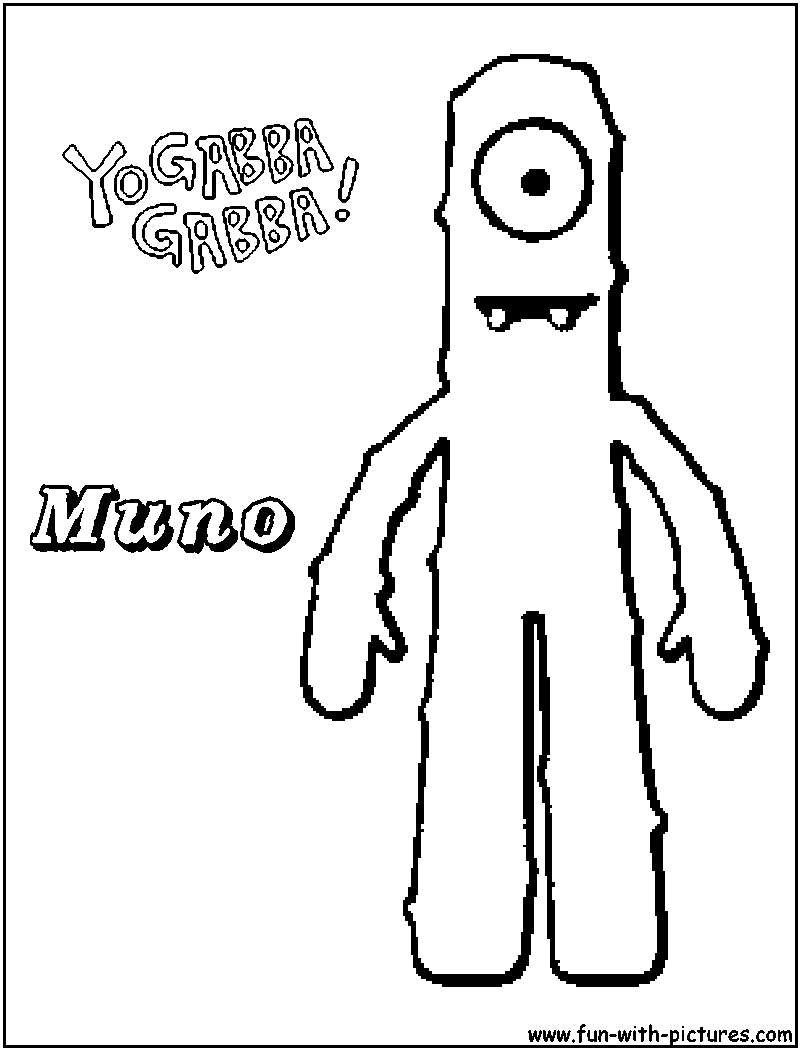 yo gabba gabba coloring pages | Only Coloring Pages