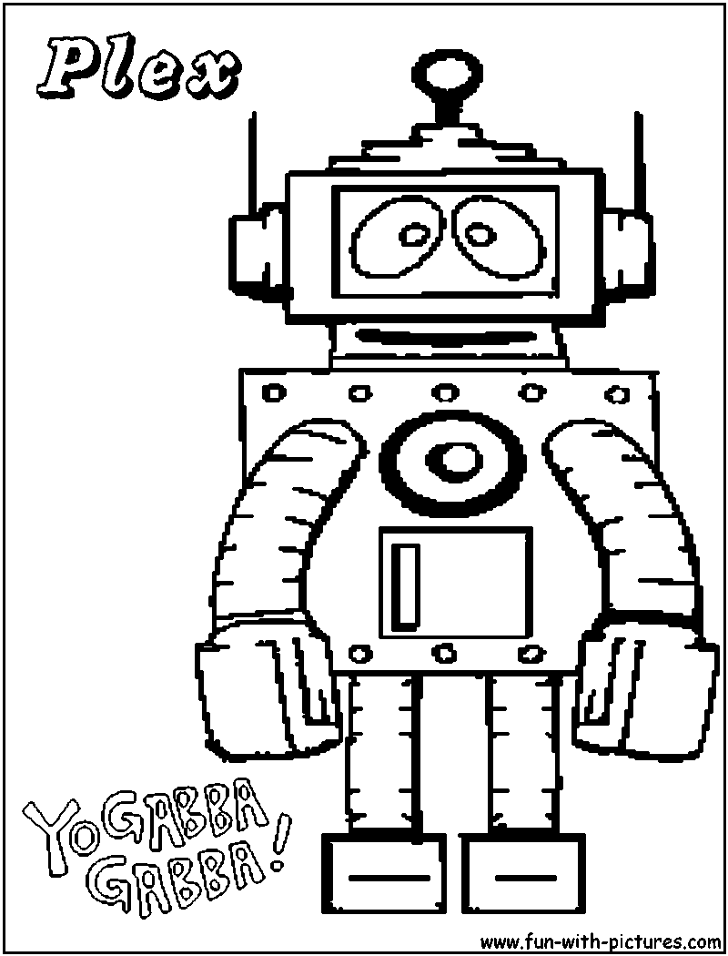 Pictures Of Yo Gabba Gabba Coloring Pages Plex Rock Cafe